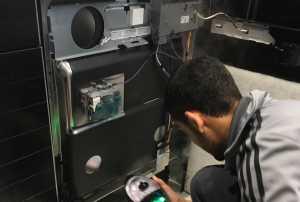 I Fix Appliance Repair Team in Progress of Dishwasher Repair